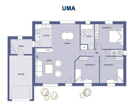 plan maison 90m2 3 chambres top plan maison en l 100m2 with plan maison en l 100m2