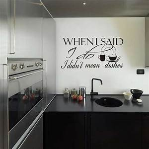 kitchen funny home wall quote vinyl art decor sticker With best brand of paint for kitchen cabinets with wall art stick on