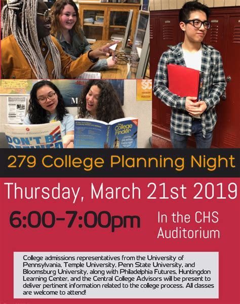 college planning night central high school