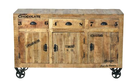 Industrial Möbel Sideboard  Kommode Aus Massivholz