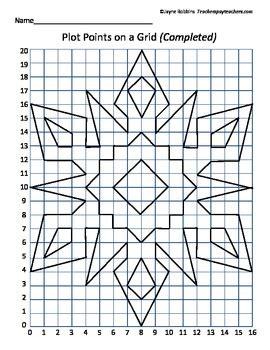 Geometry Worksheet Answers Plot Points On A Grid Sno By Jayne Robbins Teachers Pay Teachers