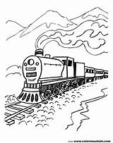 Train Coloring Steam Printable Csx Scenery Mountain Engine Drawing Locomotive Trains Cars Diesel Pacific Getdrawings Union Getcolorings Line Colorings sketch template