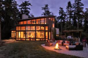 Wood And Homes by Fantastic Bayfront House Overlooking Sunset Bay Modern