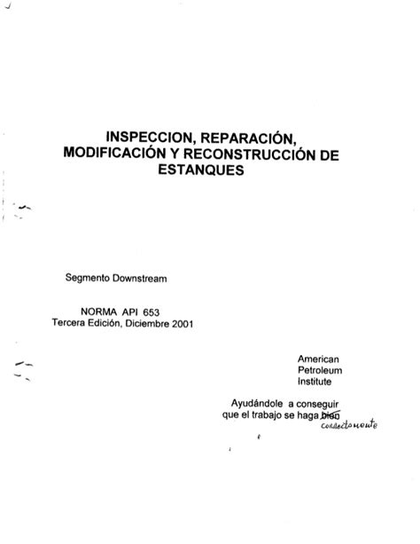 Api 653 en español