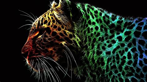 abstract multicolor jaguar manipulation wallpaper