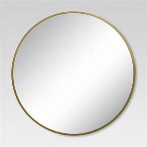 Round Decorative Wall Mirror Brass - Project 62 : Target