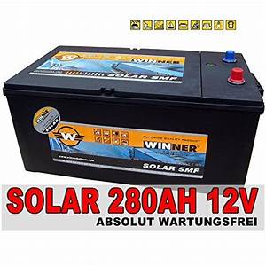 Fön Mit Batterie : solarbatterie 280ah 100h 230ah 20h shd wohnmobil solar ~ Kayakingforconservation.com Haus und Dekorationen
