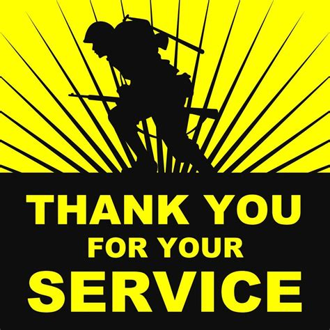 Thank You For Your Service Military Bumper Stickers Ebay