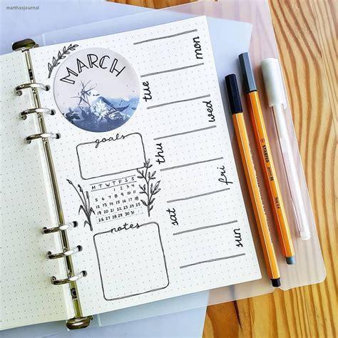 bullet journal stifte bullet journal bujo planner ideas for weekly spreads