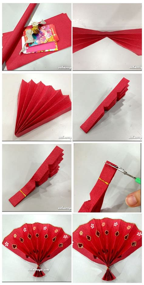 Diy Chinese New Year Fan For Little Ones, Could Add