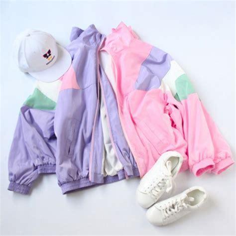 Jacket spring summer shoes windbreaker pastel harajuku tumblr aesthetic grunge ...
