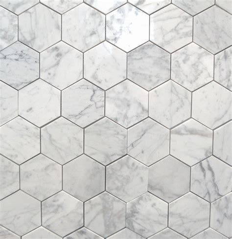 bianco carrara 3 quot polished hexagon marbletiles