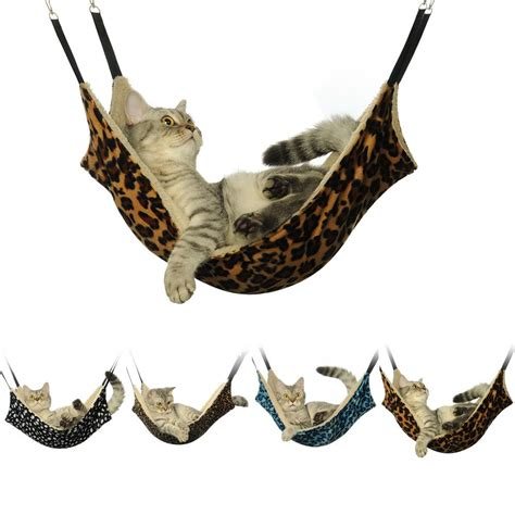 Animal Hammock by Cat Hammock Large Leopard Fur Bed Animal Hanging Cat Cage