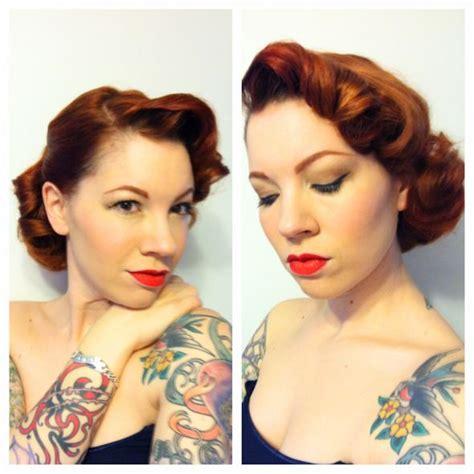 vintage 40 s 50 s diy hair and makeup trial weddingbee