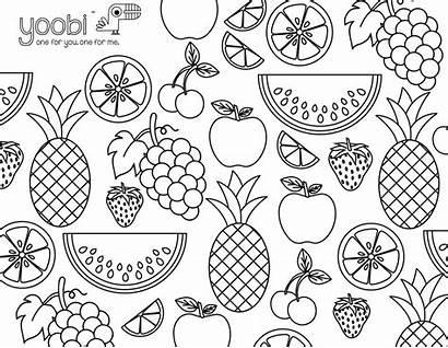 Coloring Sheets Adult Yoobi Activity Fruit Adults