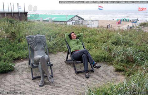 chaise métallique alex dans une chaise longue métallique scheveningen et
