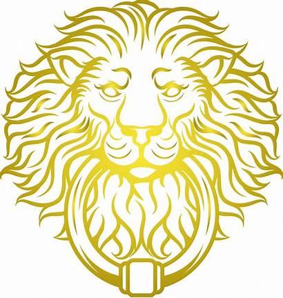Lion Head Transparent Golden Face Clipart Silhouette
