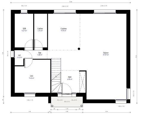 chambre individuelle plan maison individuelle 3 chambres 72 habitat concept