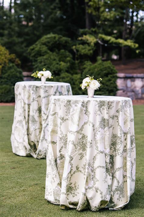 wedding inspiration reception tables  pattern linens
