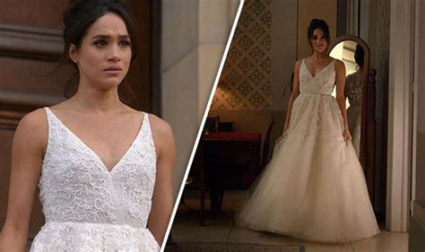 Markle Wedding Dress : Prince Harry's Girlfriend Tries
