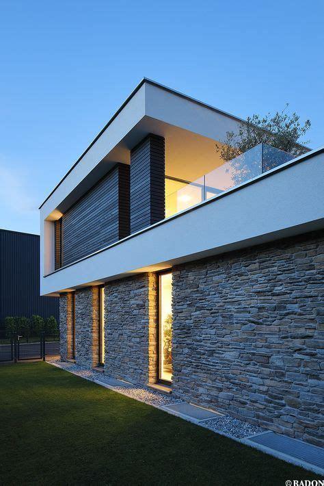 Moderne Häuser Mit Innenhof by Einfamilienhaus Pool Flachdach Steinfassade