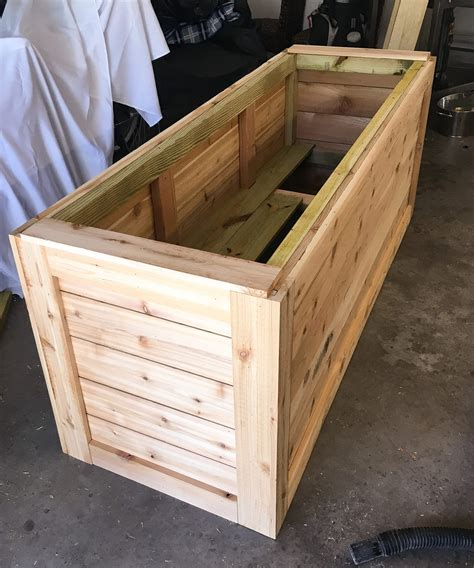 backyard diy series part iiii cedar wood planter box ashley brooke designs