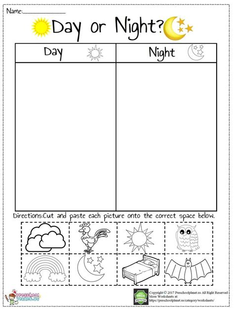 today  prepared  worksheet  day  night