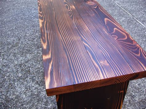 driftedge woodworking shou sugi ban bench  reclaimed