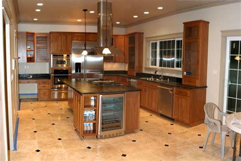 kitchen floor ideas with cabinets kitchen wood tile floor ideas wood cabinets black table