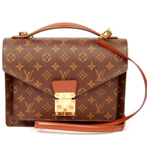 louis vuitton   monceau  strap  brown
