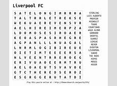 Download Word Search on Liverpool FC