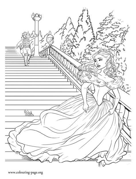 cinderella cinderella running    prince coloring page