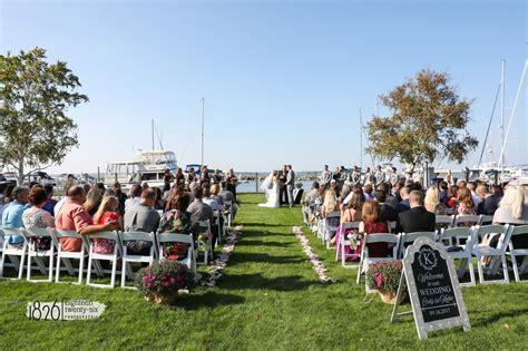 sandusky yacht club ohio waterfront wedding ceremony
