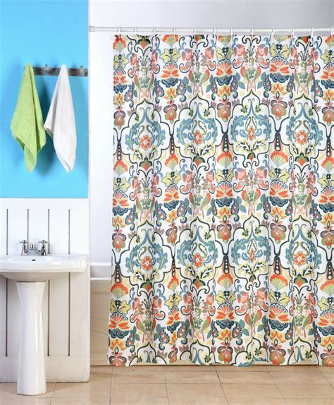 Floral Shower Curtains - emery fabric shower curtain colorful damask floral