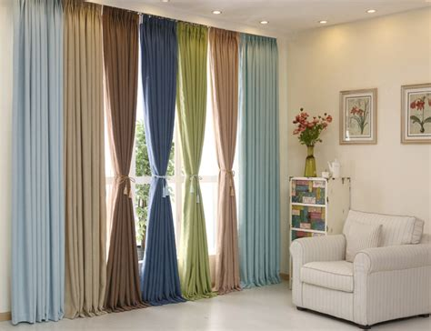 High Quality Cotton Linen High Blackout Sheer Window Curtains For Bedding Room Living Room Bule