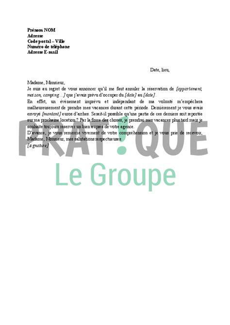 deco cuisine appartement lettre annulation de réservation de vacances pratique fr