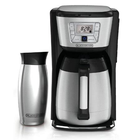 It's programmable for added convenience. THERMAL PROGRAMMABLE 12-CUP COFFEE MAKER - Walmart.com