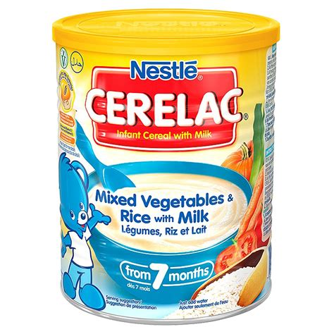Nestle Cerelac Mix Vegetables Rice With Milk 141 Oz