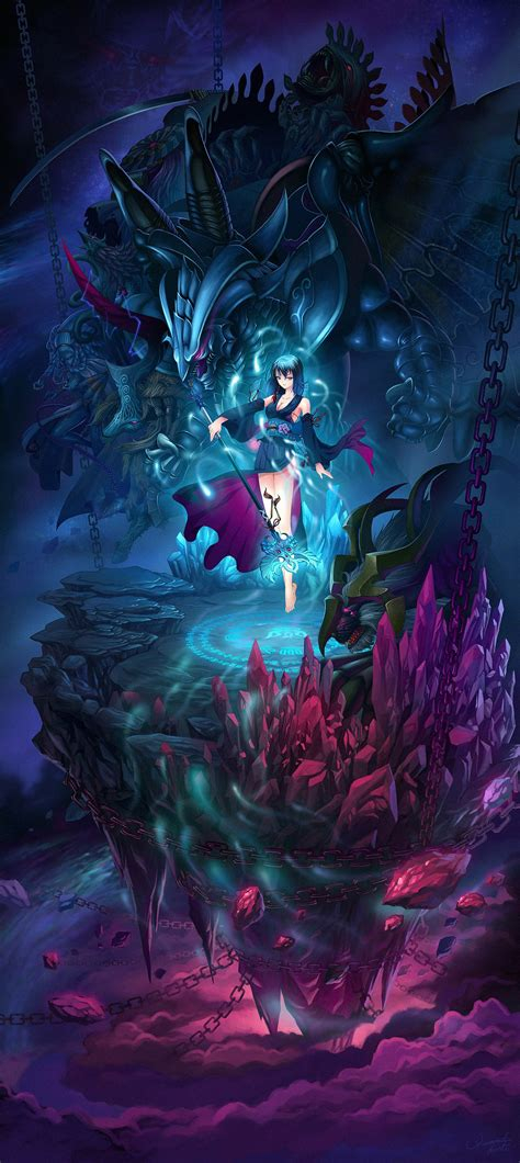 cleavage diamond dust final fantasy final fantasy  landscape monster yuna wallpaper