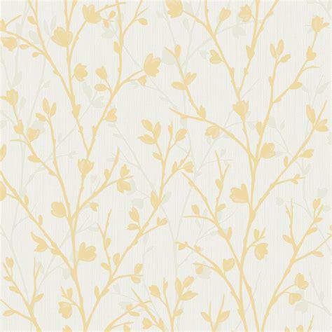 fine decor twiggy floral wallpaper yellow wallpaper