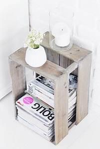 Recyclage Petite Cagette : comment recycler des cagettes travaux manuels recyclage deco deco chambre et idee deco ~ Nature-et-papiers.com Idées de Décoration
