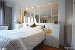 creation d39une verriere chambre salon aurore pannier With faire une chambre dans un salon