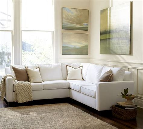 pottery barn sectional cameron square arm upholstered 3 l shaped sectional