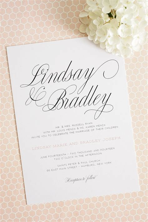 large script wedding invitations wedding invitations