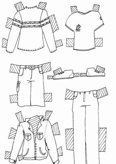 Clothes Motorcycle Jackets Coloring Pages Clothing Doll
