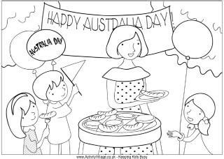 australia colouring pages 818 | Australia day barbecue colouring page 320