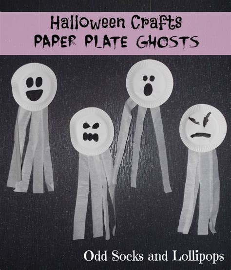 paper plate ghost crafts for toddlers socks and lollipops 2636