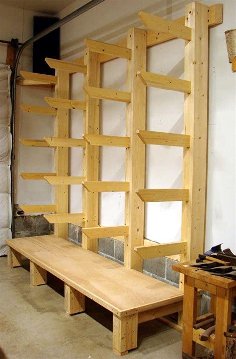 lumber rack ideas dan s shop new wood rack