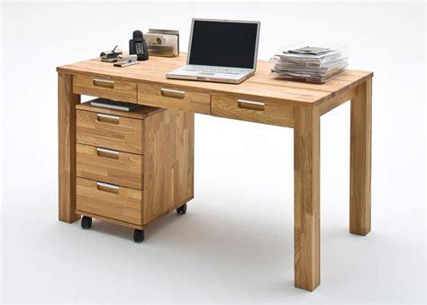 Schreibtisch + Rollcontainer Eiche Massiv 7418 Kaufen