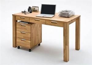 Eiche Massiv Möbel : schreibtisch rollcontainer eiche massiv 7418 kaufen bei m bel wohnbar ~ Frokenaadalensverden.com Haus und Dekorationen